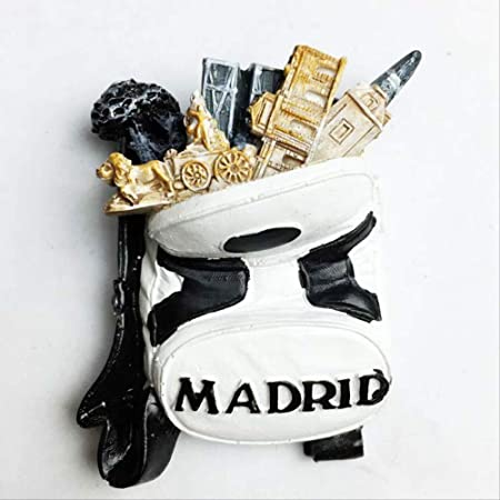 STARKWALL Madrid España Exquisito 3D Resina Refrigerador Imanes ...