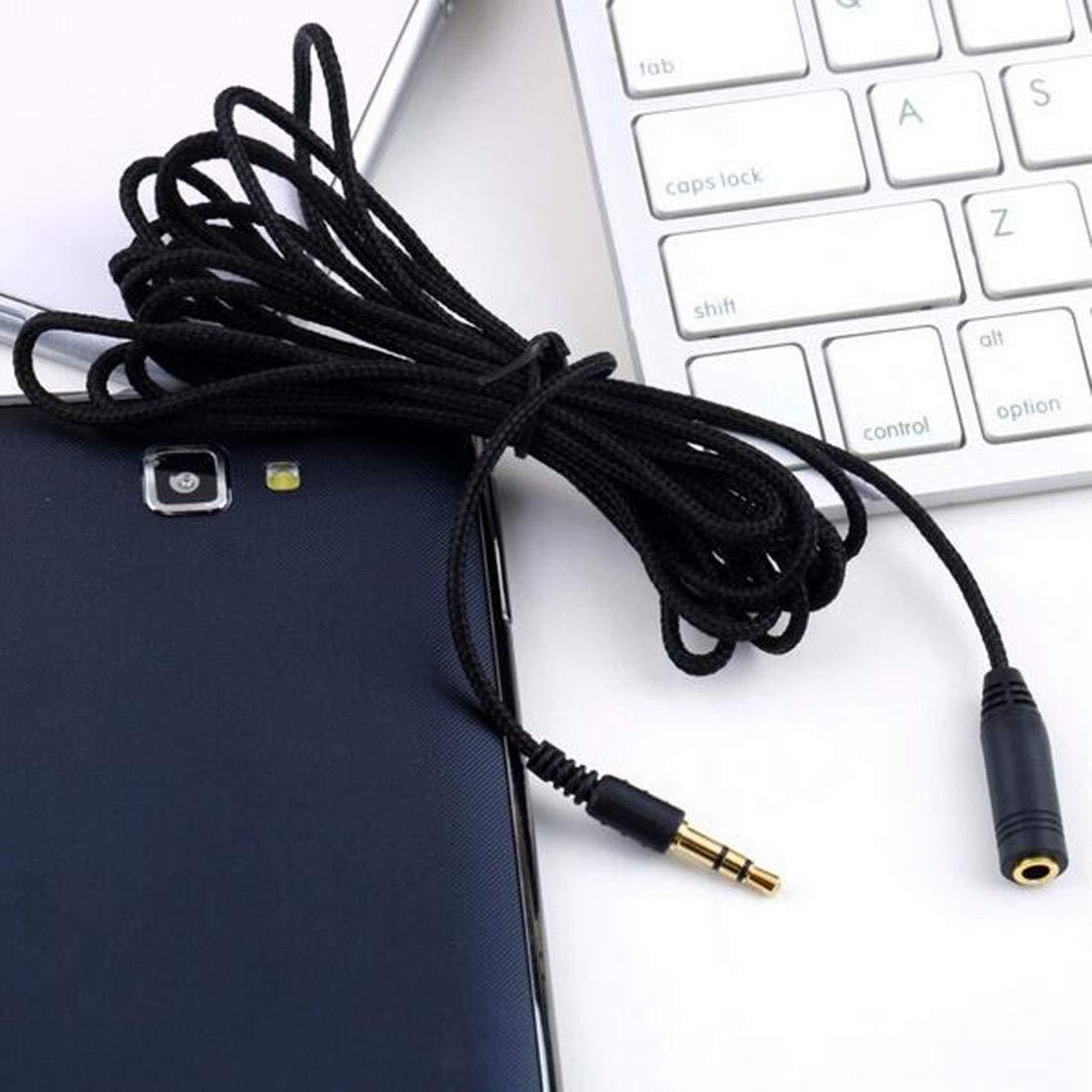 3,5 mm Macho A Hembra Auricular Auriculares Est/éreo Cable De Extensi/ón De Audio Port/átil Cable De Audio