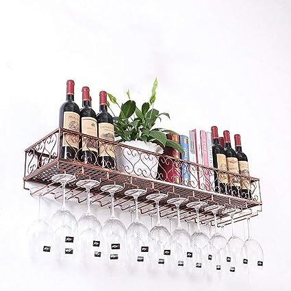 Wine racks Porta Vino - portavasos de Pared Porta Copa de Metal Inicio Portavasos de Vino