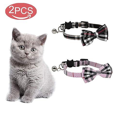 kingkindshun 2 Pack/Set Escote de Gato con una Linda Corbata de ...