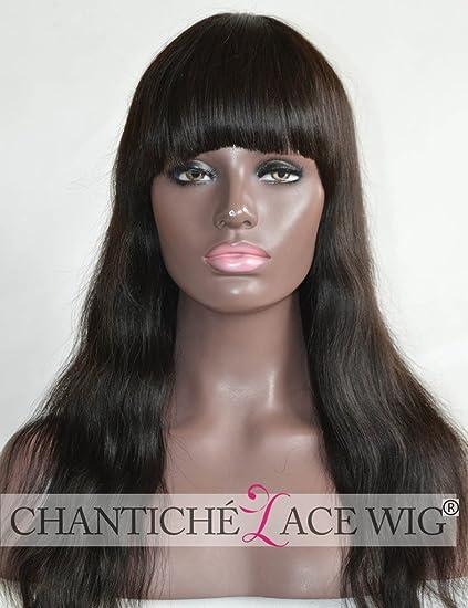 chantiche® Seda parte superior Spinning pelo Whorl indio Remy Cabello humano pelucas de encaje para