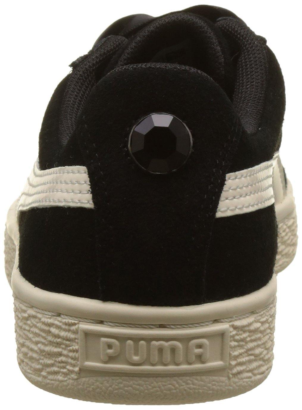 PUMA Girls Suede Heart Jewel Trainers US7 Black