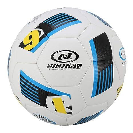 IPOTCH Balón de Fútbol de Cuero Artificial Ligero, Portátil y de ...