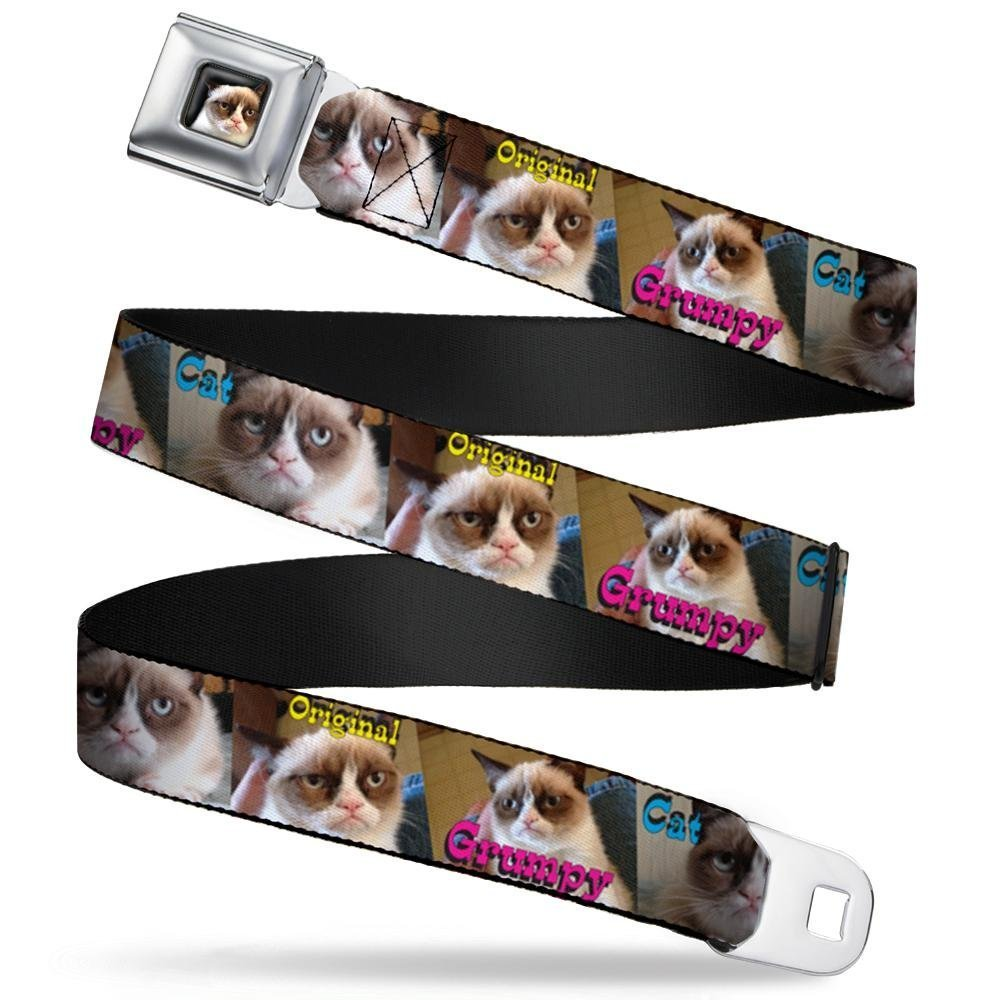 1.0 Wide 20-36 Inches in Length ORIGINAL GRUMPY CAT Poses Buckle-Down Seatbelt Belt