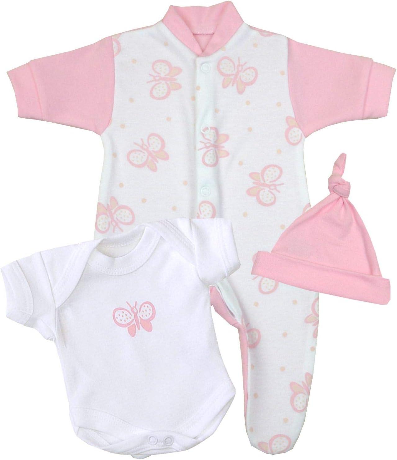 Baby/'s 3 Piece Set Gift Bib Brand New Sleepsuit -Vest