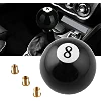 Gear Shift Knob Cuque Car 8 Billiards Gear Shift Shifter Knob Universal Auto Stick Head Handle Automobile Gear Shift Knob Head Resin Acrylic Black
