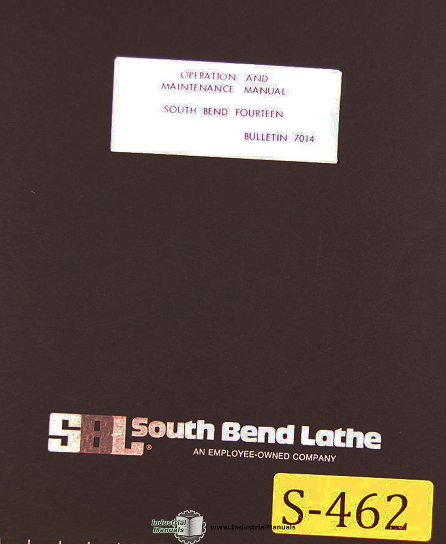 South Bend Fourteen Lathe Operation Maintenance Parts And Wiring Diagram Get Free Image About Electrical Manual Southbend Books