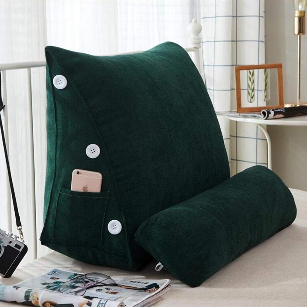 Lil Band Head Pillow Triangle Cushion, Sofa Office Bay Window Lumbar Pillow/Lumbar Support Waist/Pillow (can Be Adjusted in Three Steps) (Color : Green) by LILISHANGPU (Image #3)