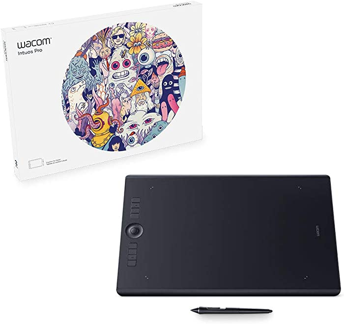 Wacom Intuos Pro Digital Graphic Drawing Tablet for Mac or PC, Large, (PTH860) New Model, Black