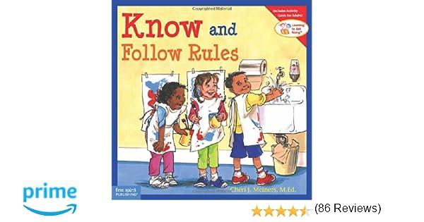 Amazon.com: Know and Follow Rules (9781575421308): Cheri J ...