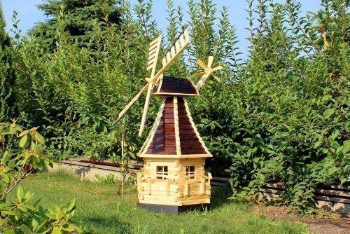 Große Gartenwindmühle 1,40 m Typ 15 (Braun)