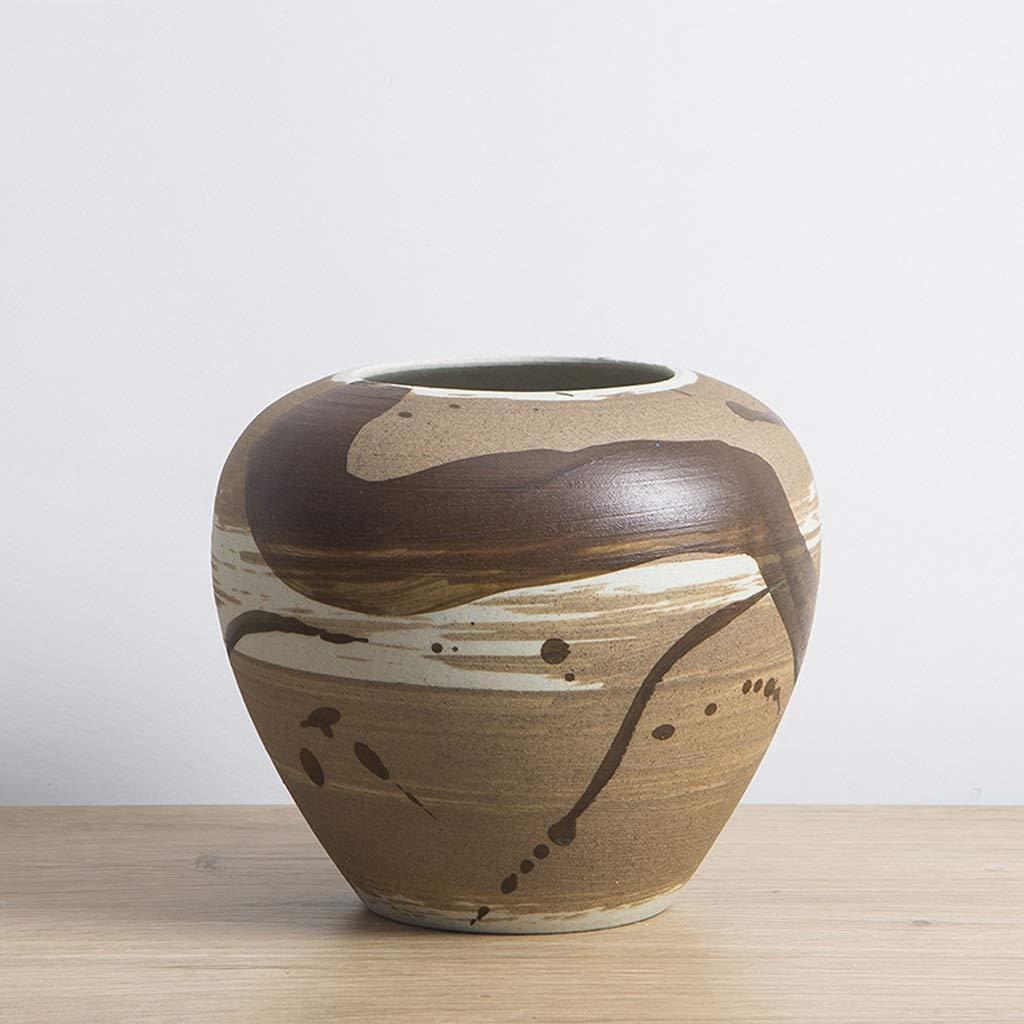 セラミック花瓶、ドライフラワー、フラワーアレンジメント、装飾、創造的な装飾 SHWSM (サイズ さいず : 11*18*18cm) B07S1MRF3F  11*18*18cm