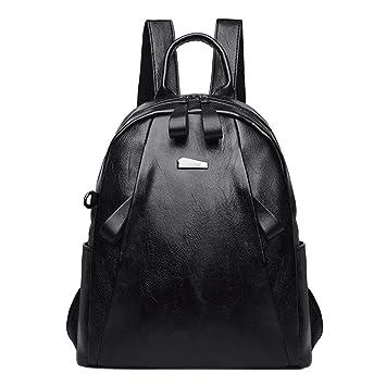 Widewing Travistar Bolsos Mochilas Mujer Casual Bolso de hombro de la PU de las mujeres de la moda Bolso de la mochila de la universidad de la adolescente: ...