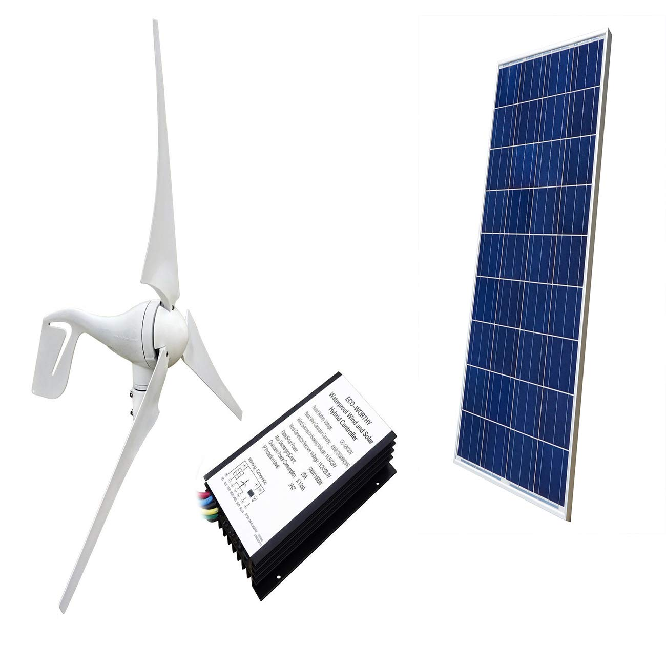 amazon com eco worthy 400w wind turbine generator 100wamazon com eco worthy 400w wind turbine generator 100w polycrystalline solar panel for off grid 12 volt battery charging garden \u0026 outdoor