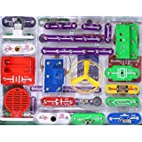 335 DIY Circuit Experiments,Electronic Discovery Kit Toy for Kids,Electronic Building Block Kit,Educational Science Kit Toy-With 31 Circuit Snap Modules