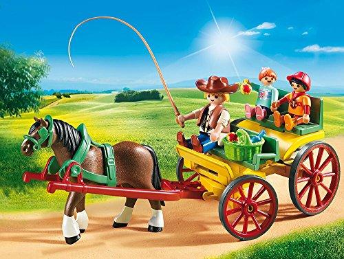 PLAYMOBIL® Horse-Drawn Wagon Building Set