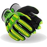 Magid Glove & Safety T-REX Flex Series Lightweight NitriX Grip Technology Palm Coated Impact Glove – ANSI Cut A4 (1 Pair…