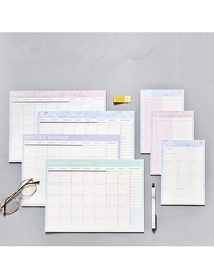 MPLG Cuaderno Diario Semanal Mensual Anual Calendario ...