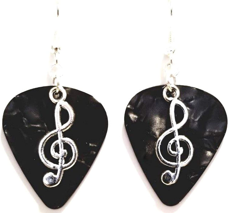 Guitar Pick Earrings 925 Silver ear hooks music gift