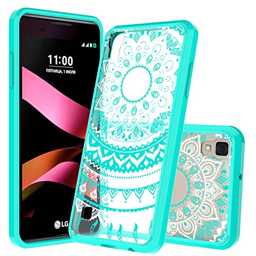 LG Tribute HD Case,LG X Style Case,LG Volt 3 Case With HD Screen Protector, AnoKe Scratch Resistant Mandala Design Slim Fit Hard Cover TPU Protective Cover Cases for LS676/L53B/L56VL/Volt 3 CH TM Mint