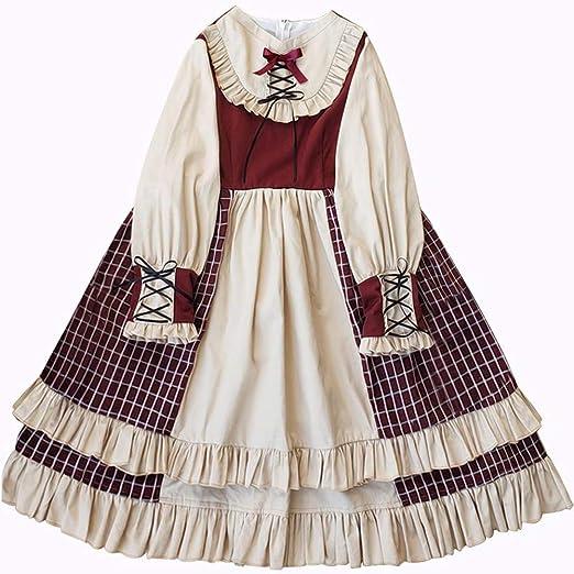 WDL-shop Estilo francés Vestido de Princesa Lolita, Falda Casual ...