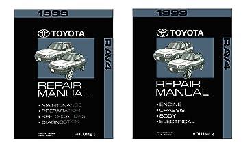amazon com 1999 toyota rav4 shop service repair manual book engine rh amazon com 1999 rav4 repair manual pdf 1999 toyota rav4 repair manual pdf