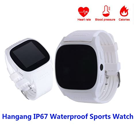 Hangang Reloj Inteligente Bluetooth, Top-MAX T8M Fitness Tracker Smartwatch con Podómetro Manos Libres