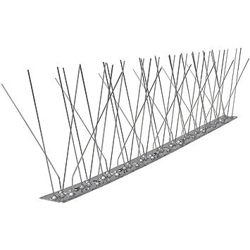 Festnight Pinchos Antipalomas - Hileras Quíntuples de Puntas Anti-Pájaros Juego de 6, 50x2.5 cm