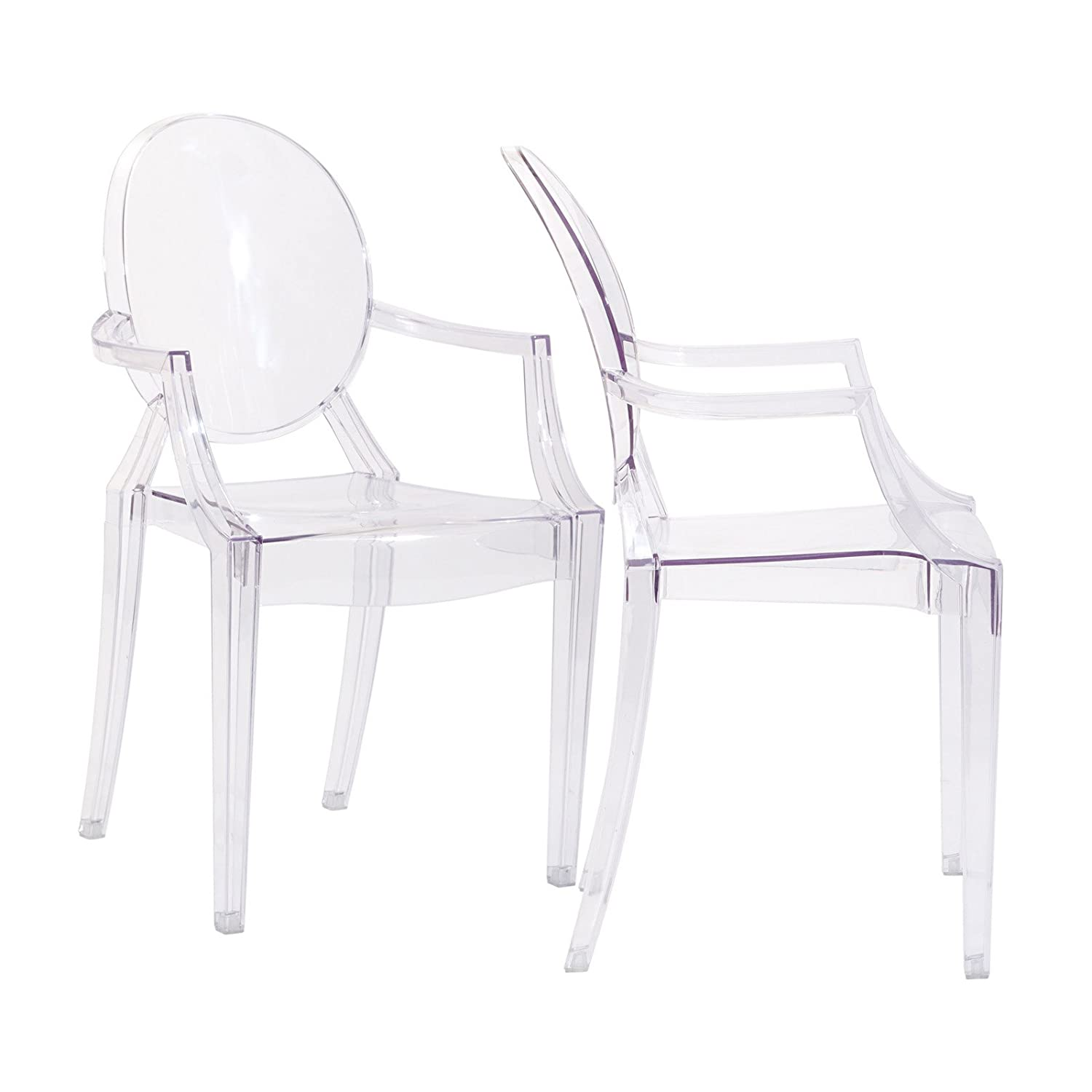Amazon.com: Modway Miniature Casper Novelty Chair In Clear: Kitchen U0026 Dining