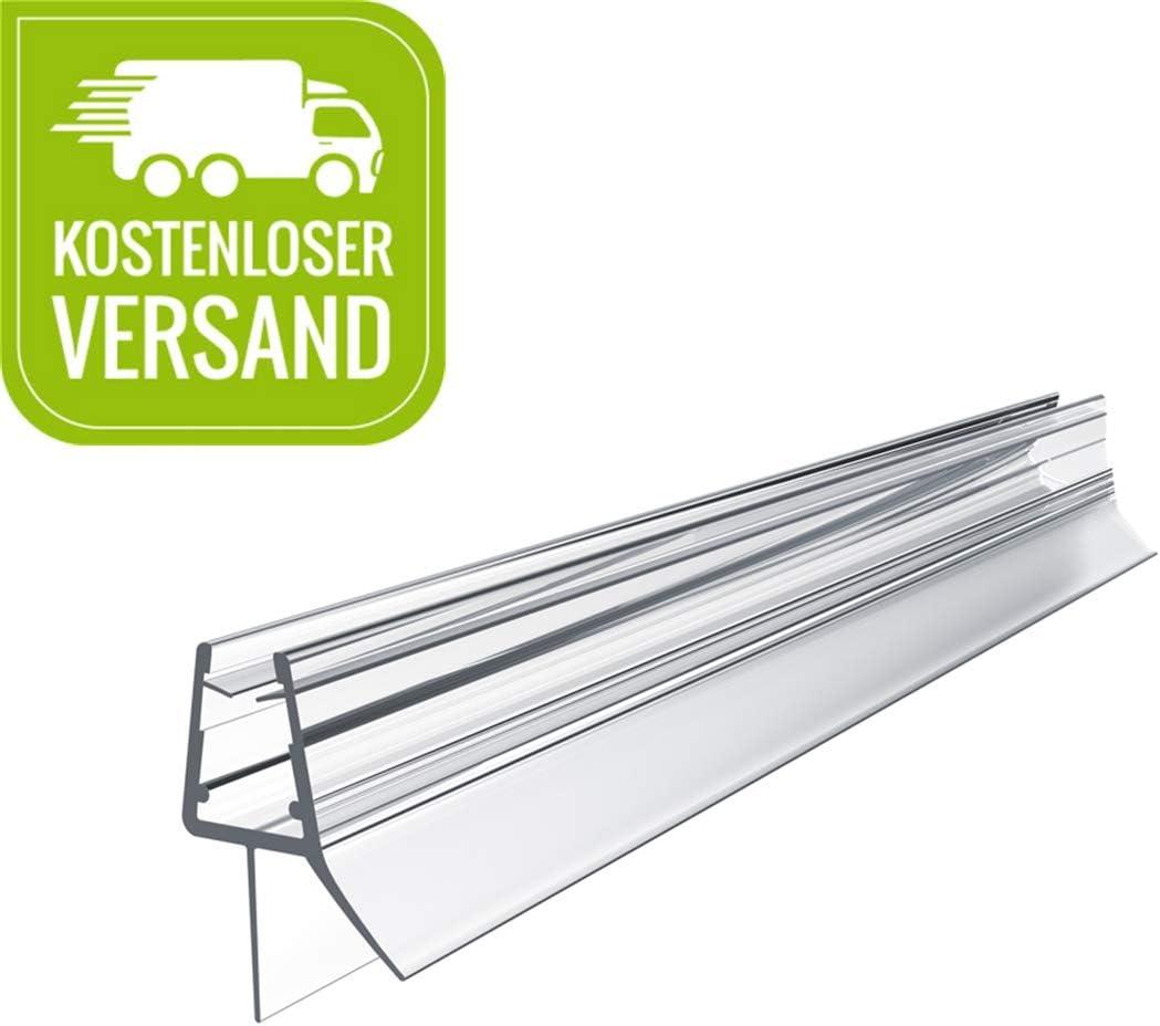 PVC Dichtung Ersatzdichtung mit Wasserabweiser f/ür Duschkabine /& Glast/üren WELMAX Duschdichtung 60cm f/ür Duscht/ür Glasst/ärken von 4-6mm