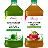 St.Botanica Wheatgrass Juice With Aloevera + Apple Cider Vinegar with Mother Vinegar