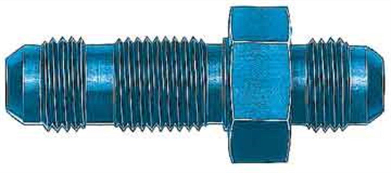 Aeroquip FCM2071 Blue Anodized Aluminum 04AN Bulkhead Union Adapter
