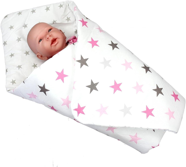 TupTam Baby Einschlagdecke Warm Wattiert Gemustert