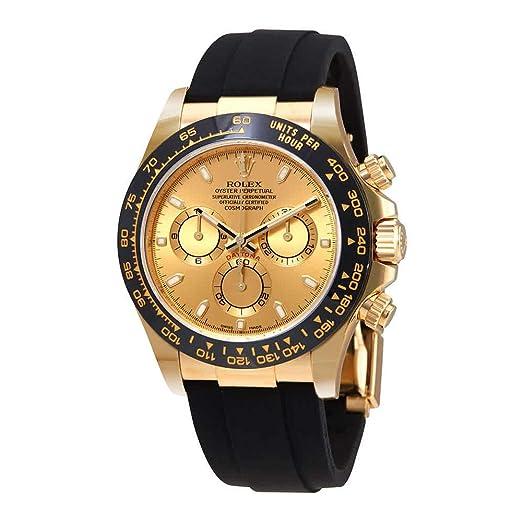 Rolex Cosmograph Daytona - Reloj automático para hombre con dial de oro amarillo de 18 quilates 116518CSR: Amazon.es: Relojes