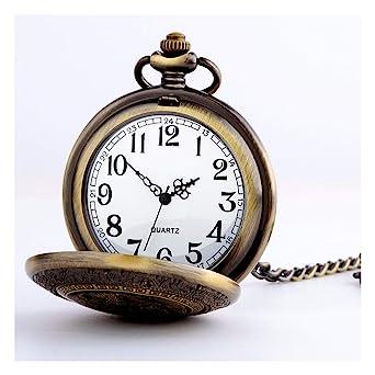 Reloj de bolsillo para Hombre, Collar electrónico de Cuarzo ...