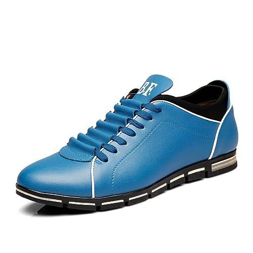Tribangke Zapatos Planos con Cordones para hombre, Marr¨®n, EU 39