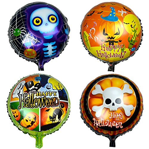 [12Pcs Happy Halloween Aluminum Foil Skell Pumpkin Spider Haunted House Party Supplies Decoration] (Customs For Halloween Ideas)
