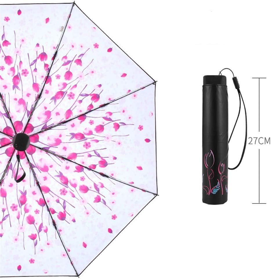 Comeyang Paraguas Compacto y a Prueba de Viento Que Abre y Cierra automáticamente el Paraguas Plegable,Protección Solar Paraguas Plegable Triple Paraguas Plegable Paraguas colour3 97cm: Amazon.es: Hogar
