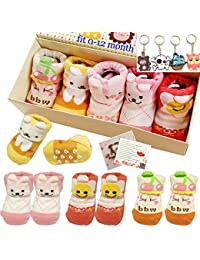 Fly-love® 5pairs 0-18 months Girls Animal Non-Skid Anti...