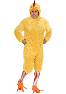 Perfect Charades Menu0027s Adult Plus Size Funky Chicken Costume Set