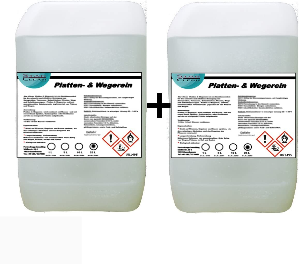Placas & wegerein herbicida 2 x 25 l: Amazon.es: Coche y moto