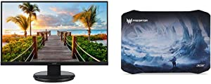 """Acer KB272HL bix 27"""" Full HD (1920 x 1080) Acer VisionCare VA Monitor with Flicker-Less with Acer Predator Ice Tunnel Mousepad"""