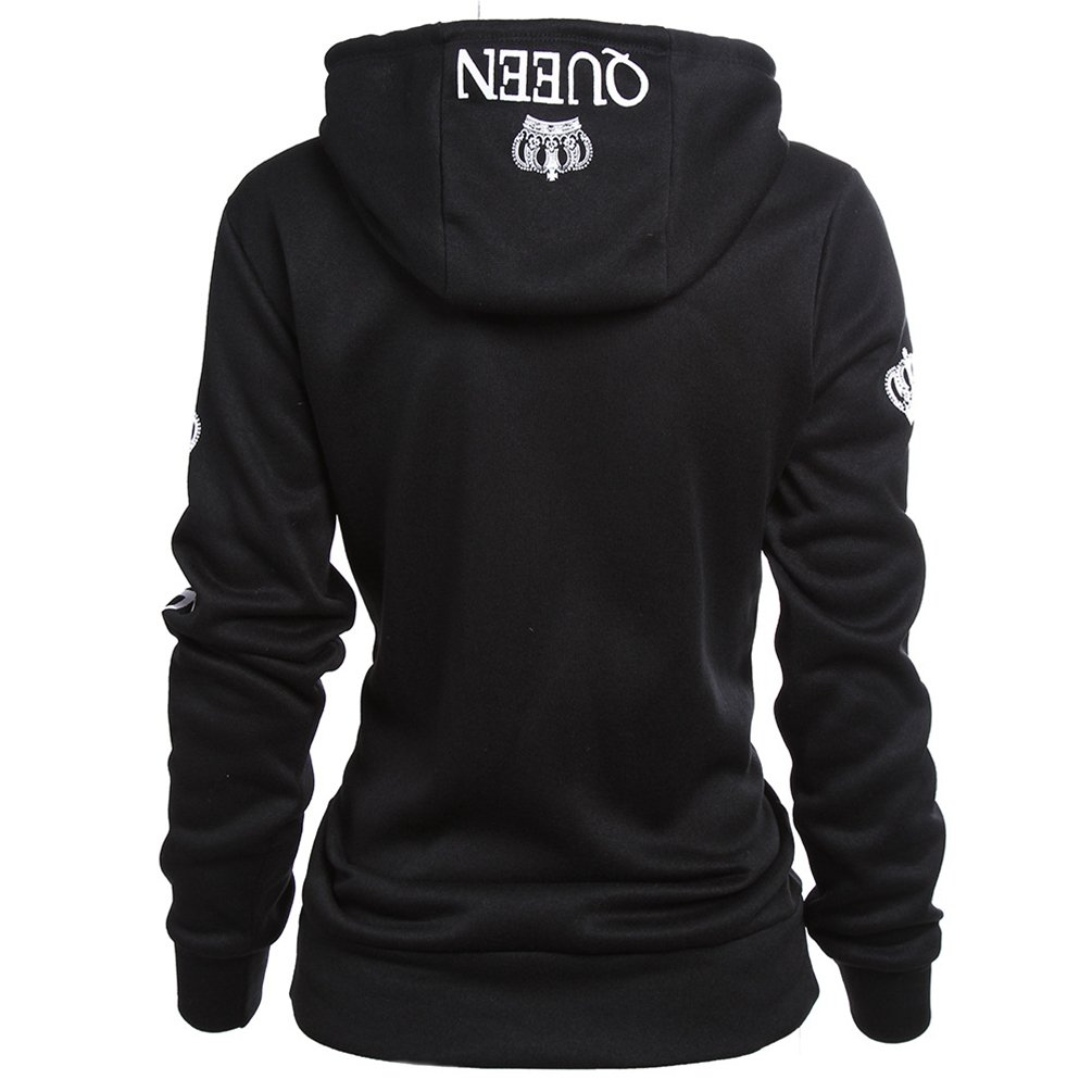 3277f1dbad7 ZKOO Hoodie Couples Queen King Printing Crown Hoodies Drawstring Lovers Hooded  Sweatshirt Pullover with Pockets Autumn and Winter  Amazon.co.uk  Clothing