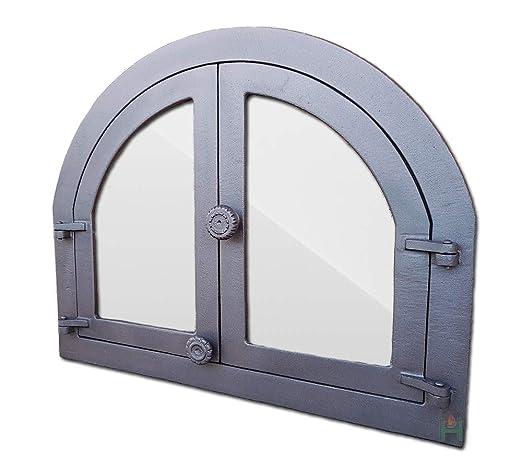 Puerta Del Horno Panama Cristal puerta Horno de Hierro Fundido ...
