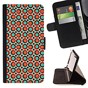 BullDog Case - FOR/Sony Xperia Z3 D6603 / - / dots spots bubble wallpaper orange colorful /- Monedero de cuero de la PU Llevar cubierta de la caja con el ID Credit Card Slots Flip funda de cuer
