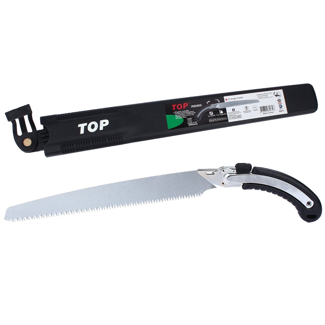 Heavy Duty Pruning Saw,Comfort Handle with Saw Blade Enclosure - Japanese Style Hand Saw - Perfect for Trimming Trees, Plants, Shrubs, Wood, and More!
