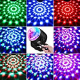 Party Lights Sound Activated, Petronius Disco Ball Strobe Light with Remote Control, Portable DJ Dance Lighting, 7 Colors RGB Lamp for Home Bar Karaoke Birthday Wedding Show Club Pub, 2-Pack