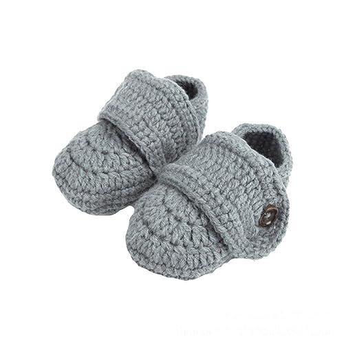 Luckygirls Baby Schuhe Krippe Häkeln Beiläufiges Handgemachte Knit