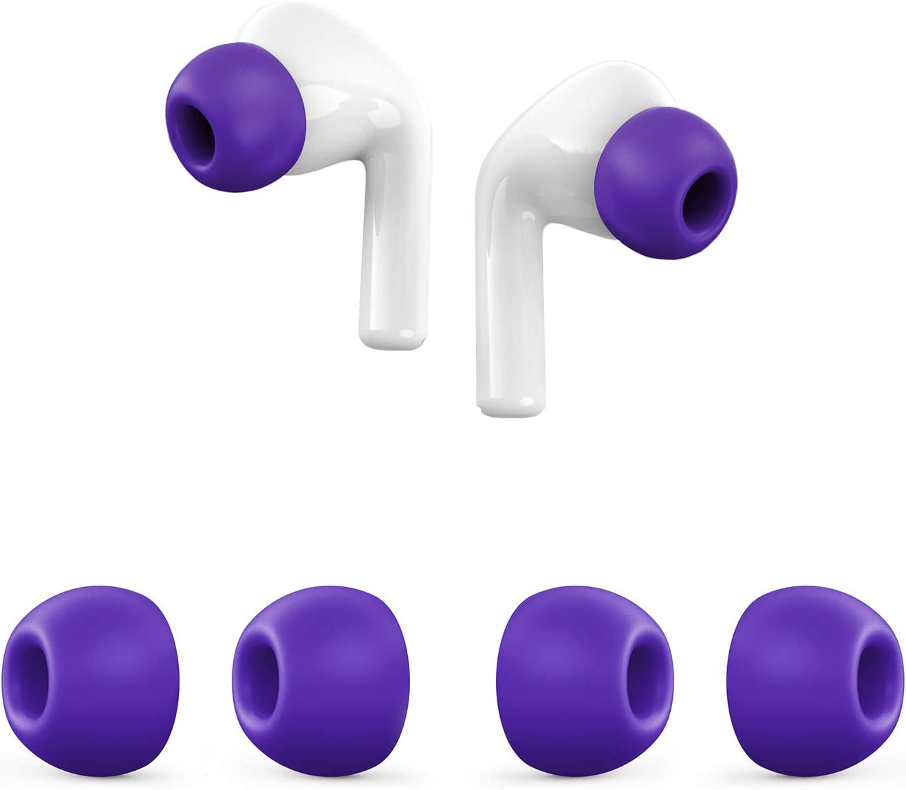 Silicone Ear Tips for AirPods Pro,Anti Slip Replacement Soft Silicone Earphone Tips for AirPods Pro(AirPods 3),2 Pairs,Medium,Purple