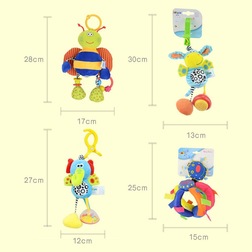 Hemore Baby Products 1/pcs B/éb/é Pull chocs /à suspendre Hochet infantile Dessin anim/é Lit Poussette /à suspendre jouet en peluche Mignon /él/éphant